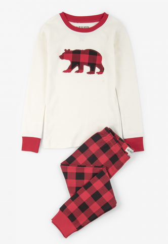 Little Blue House - Buffalo Plaid PJ Set