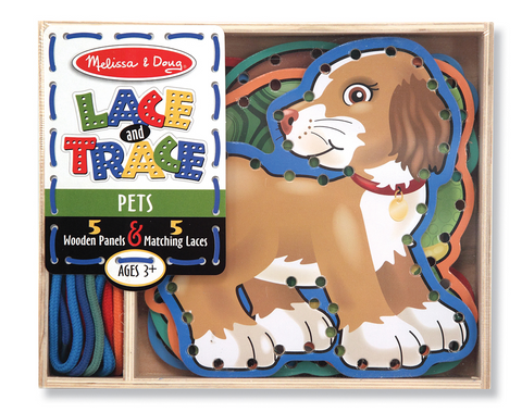Melissa & Doug Lace and Trace Activity - Pets