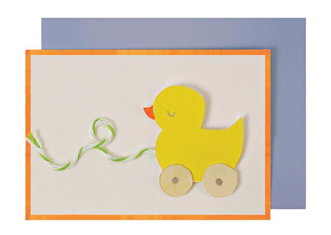 Meri meri - Baby Shower Duck Pullalong Card