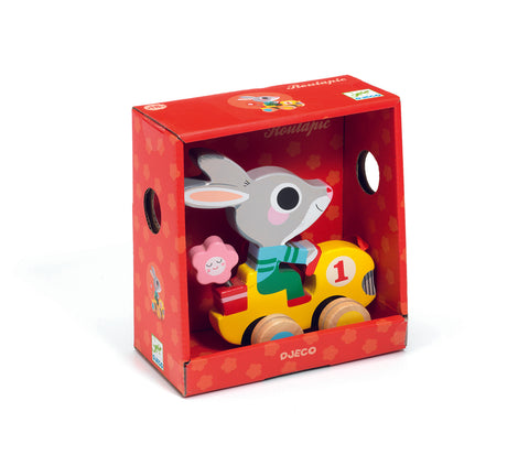 Djeco Rabbit pull along toy