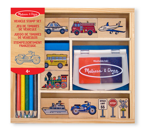 Melissa & Doug Wooden stamper - Vehicle
