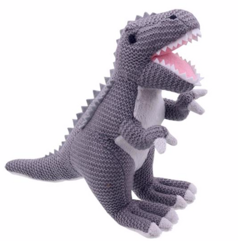 Wilberry Knitted T-Rex dino