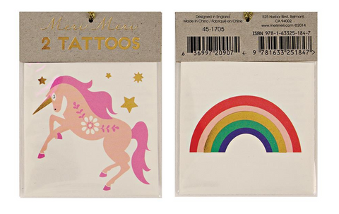 Meri Meri Unicorn Temporary Tattoo