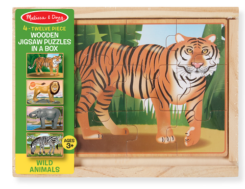 Melissa & Doug Wooden jigsaw - Wild animals