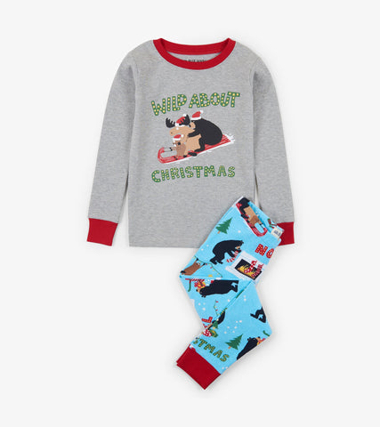 Little Blue House - Wild About Christmas PJ Set