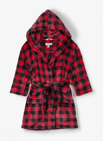Buffalo Plaid Kids Fleece Robe