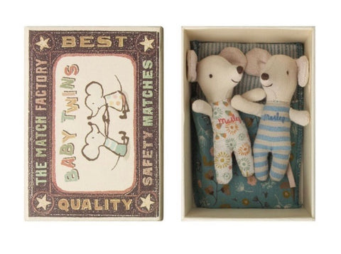 Maileg Twins in Matchbox