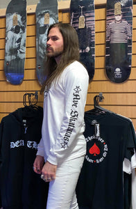 Kvltivation Skate Store - Skateboarding Owes You Nothing Long sleeve Shirt White