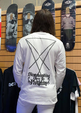 Load image into Gallery viewer, Kvltivation Skate Store - Skateboarding Owes You Nothing Long sleeve Shirt White