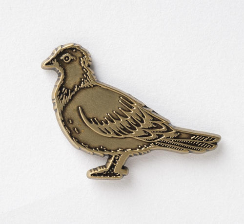 Anti Hero - Bronze Pigeon Pin Badge