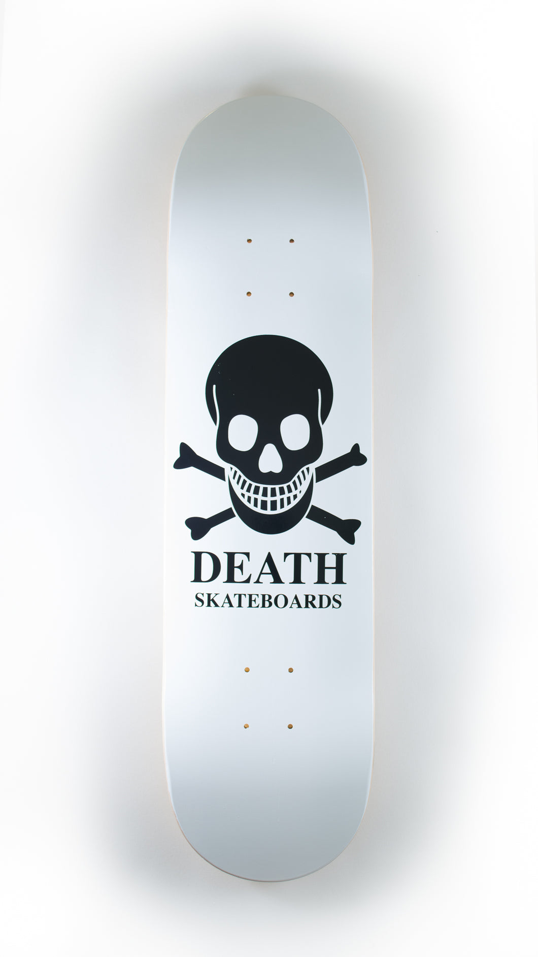 Death Skateboards - White O.G. Skull Deck 8.5