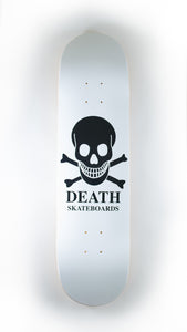 Death Skateboards - White O.G. Skull Deck 8.125""