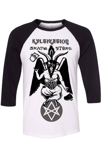 Kvltivation Skate Store - Baphomet Raglan Shirt