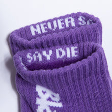 Load image into Gallery viewer, Lakai LTD X Black Sabbath crew sock Purple