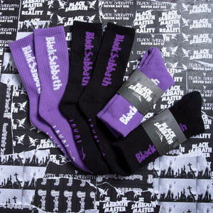 Lakai LTD X Black Sabbath crew sock Purple