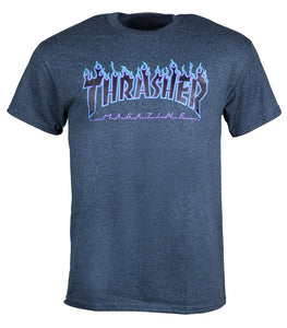 Thrasher Mag - Flames Heather T shirt