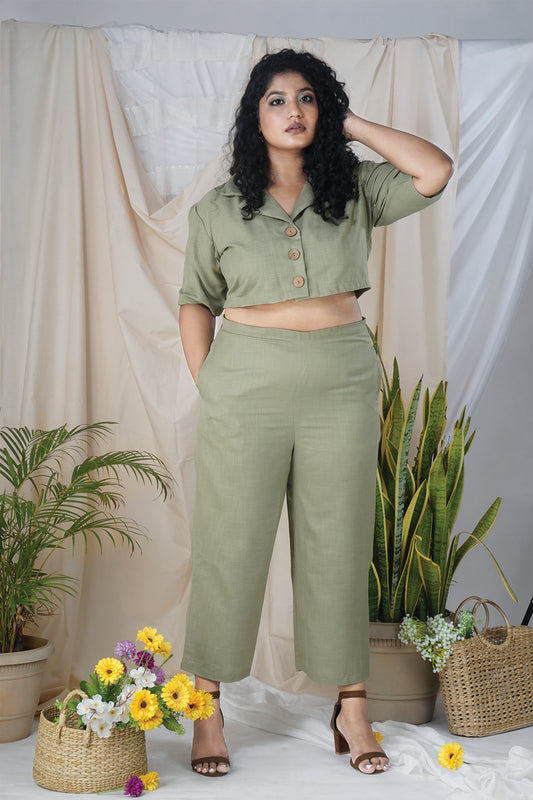 Hustle Co-Ord Set in Olive Green