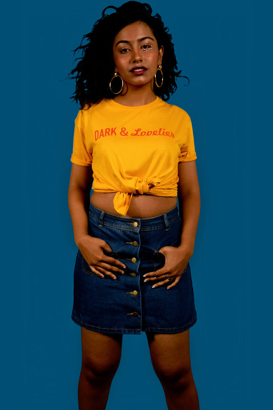 Dark And Lovely T-shirt in Mustard