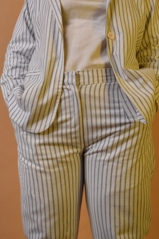 Tapered Trousers in Multi Stripes
