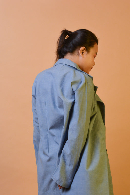 Anti Fit Blazer in Blue Chambray