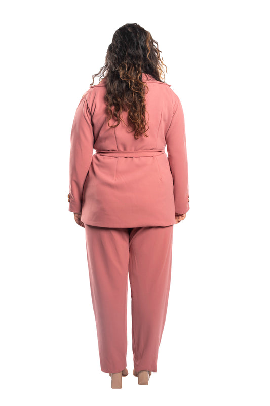 Tapered Trouser In Rose Pink
