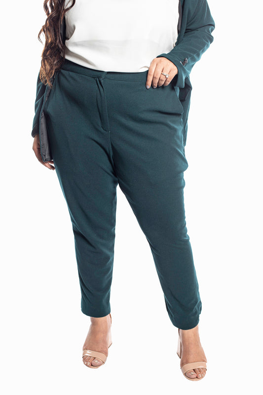 Tapered Trousers in Bottle Green