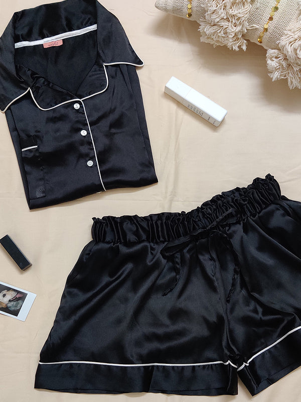Satin Shorts Set