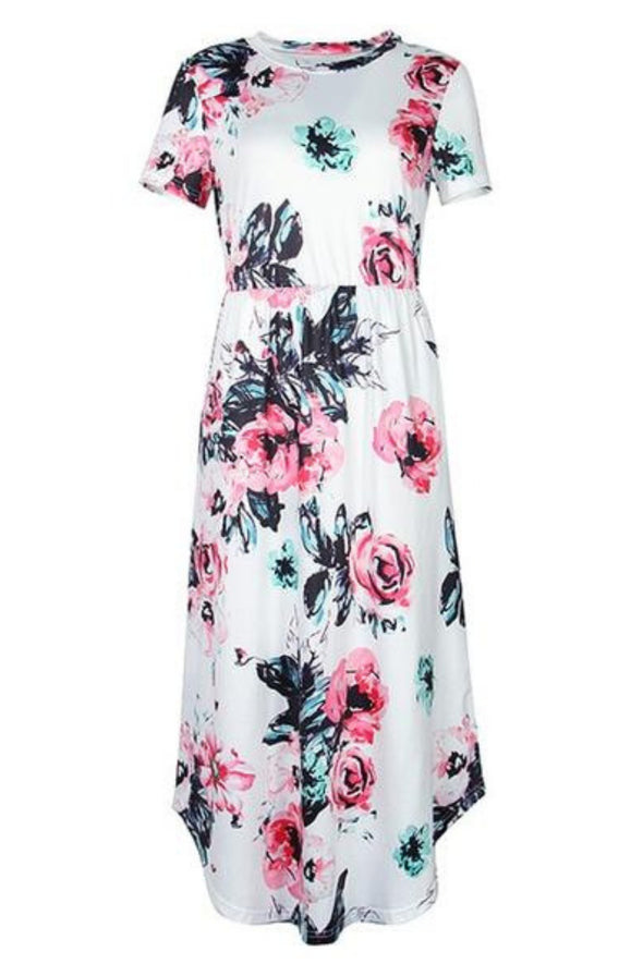 Bohemian Dresses For Women - Casual Chic Floral Design Long Dress
