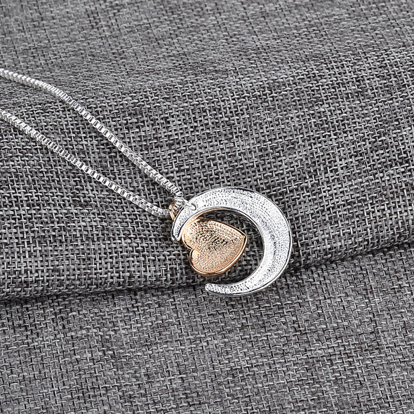 Bohemian Necklace - I Love You To The Moon & Back Pendant Necklace