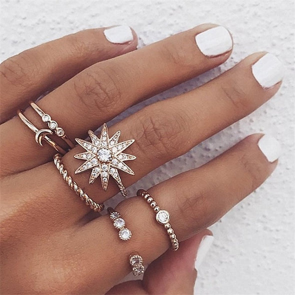 Bohemian Ring Sets - Vintage Femme Sterling Silver Shop Rings