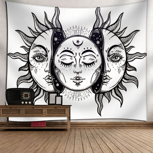 Boho Hippie Online Shop - Mandala Tapestry Black & Colored Decors