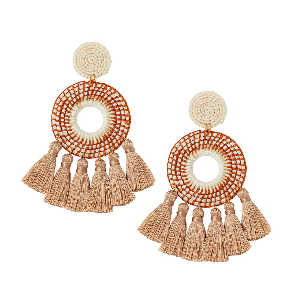 The Serena Earrings in Cinnamon