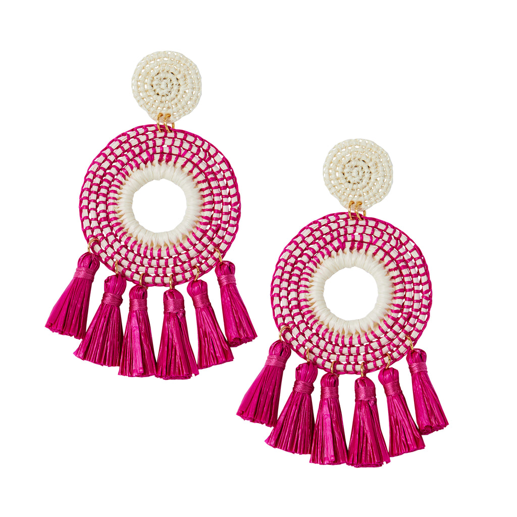 The Serena Earrings in Pink