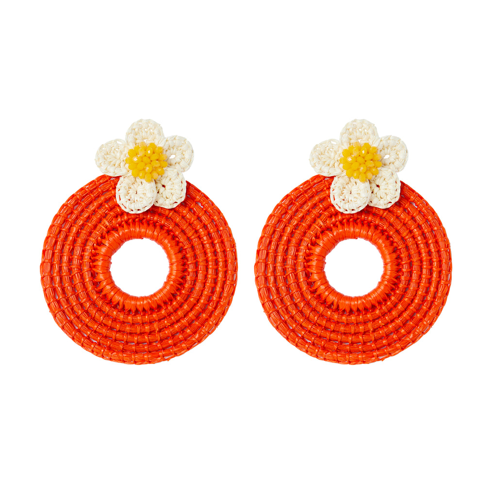 The Clementine Earrings in Orange
