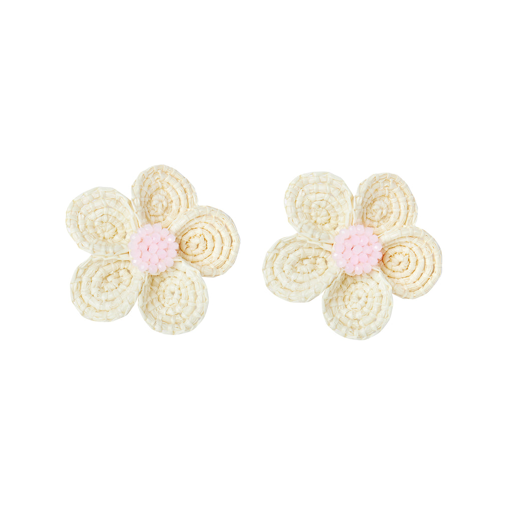 The Louisa Earrings in Light Pink