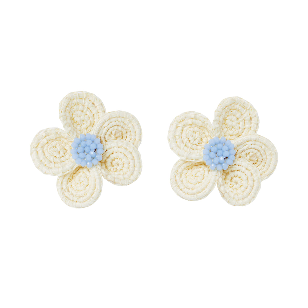 The Louisa Earrings in Light Blue