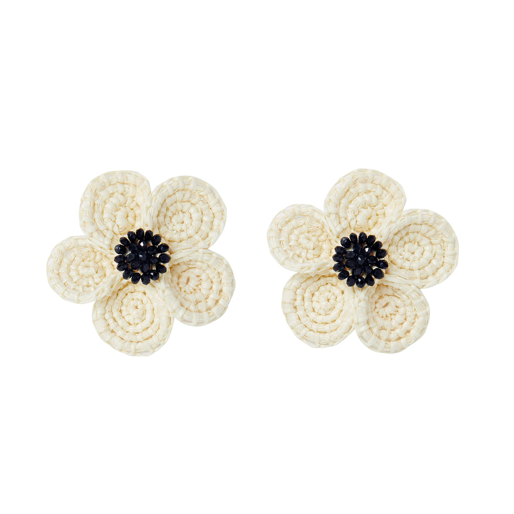 The Louisa Earrings in Black