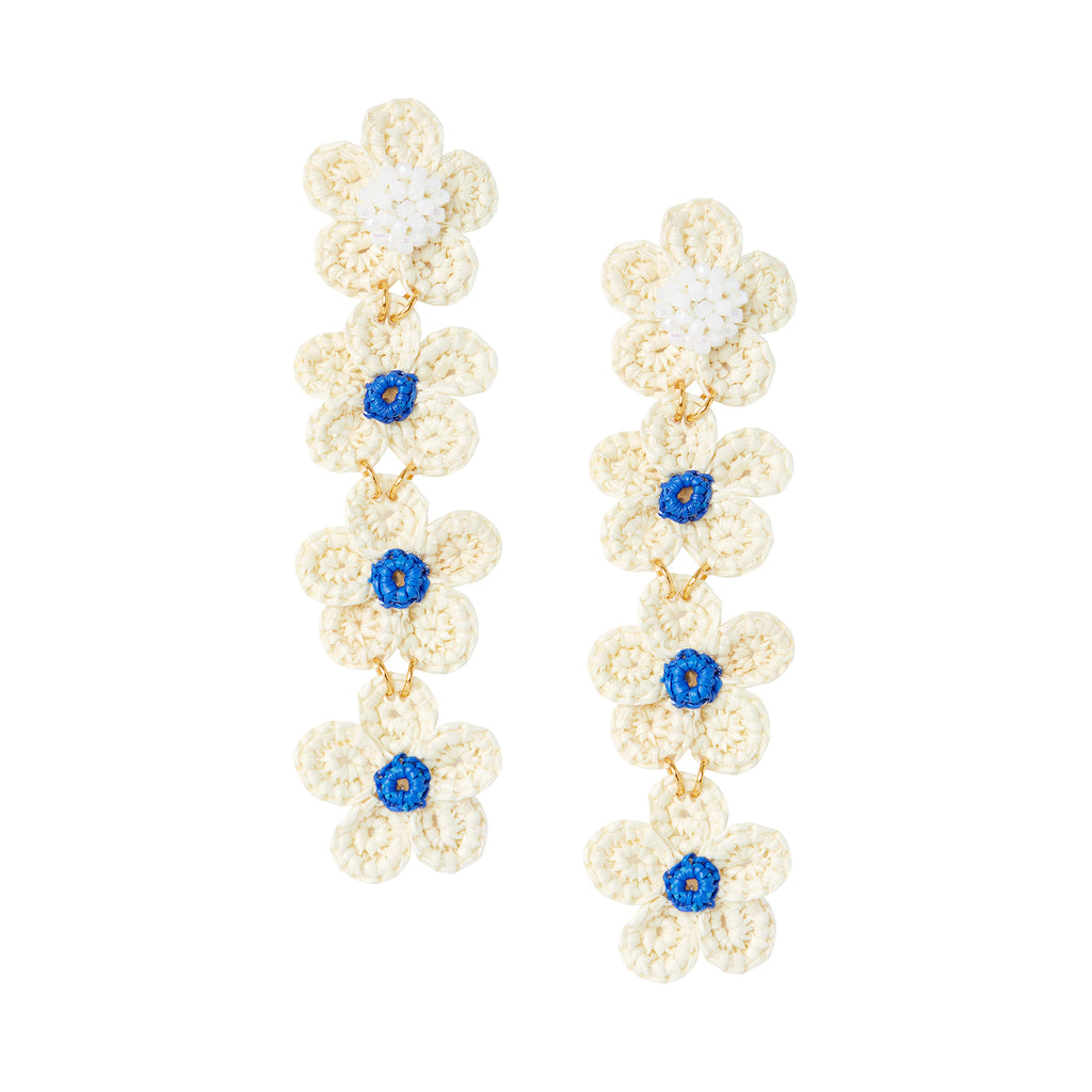 The Jane Earrings in Lapis