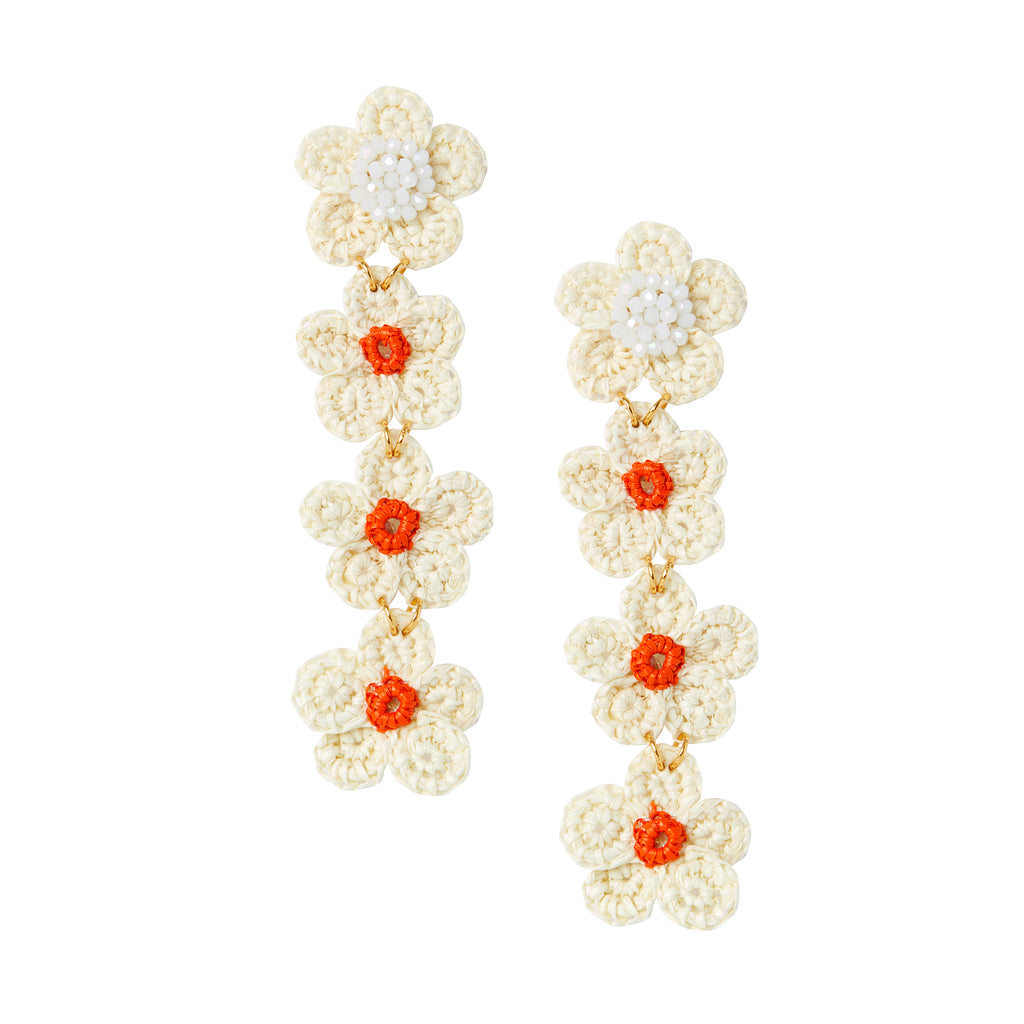 The Jane Earrings in Orange