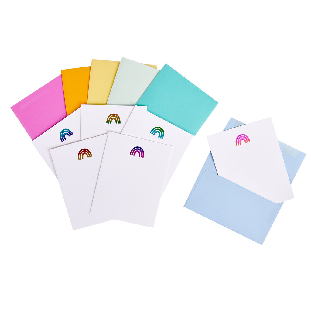 Rainbow Notecards Set