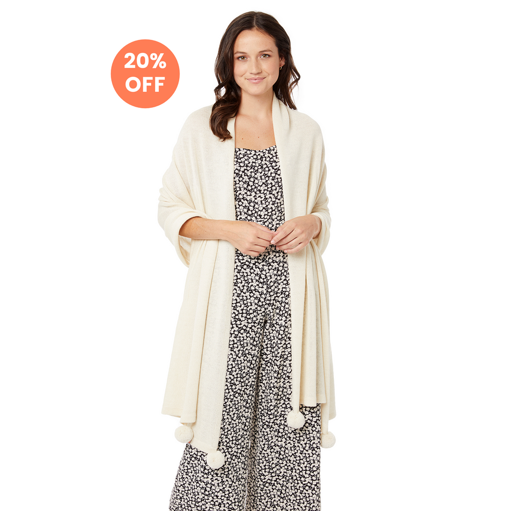 The Pardy Wrap in Cream - Now $148