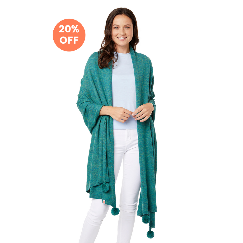 The Pardy Wrap in Heathered Green - Now $148