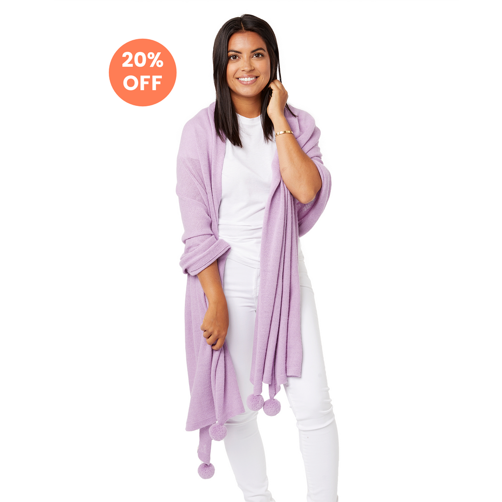 The Pardy Wrap in Lavender - Now $148