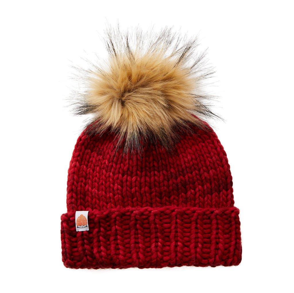 The Rutherford Beanie in Cardinal