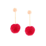 The Chickie Earrings in Runway Pink