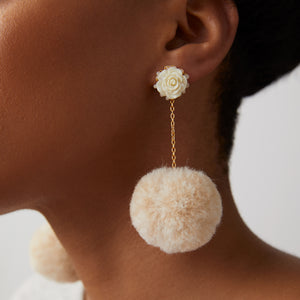 The Chickie Earrings in Cream