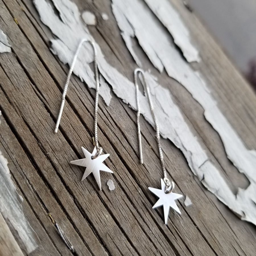 Shooting Star Threader Earrings