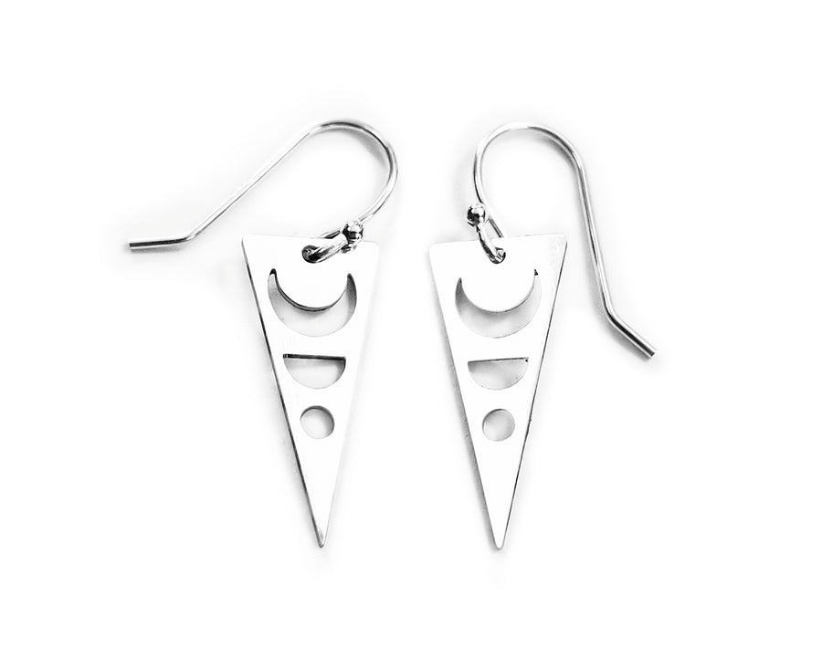 Dagger Moon Earrings