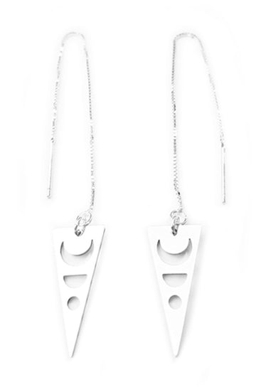 Dagger Moon Threader Earrings