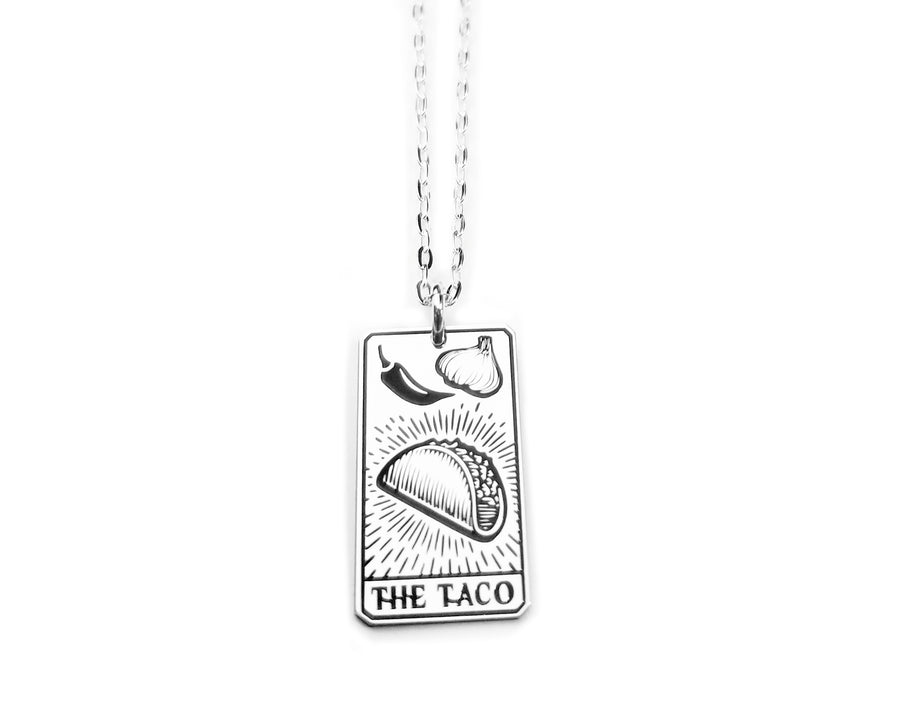 The Taco Tarot Card Necklace